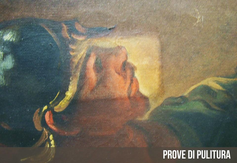 Pala d'altare dipinto olio su tela del Carloni – Zelbio