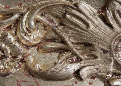Sacrestia di Zelbio doratura-cornice