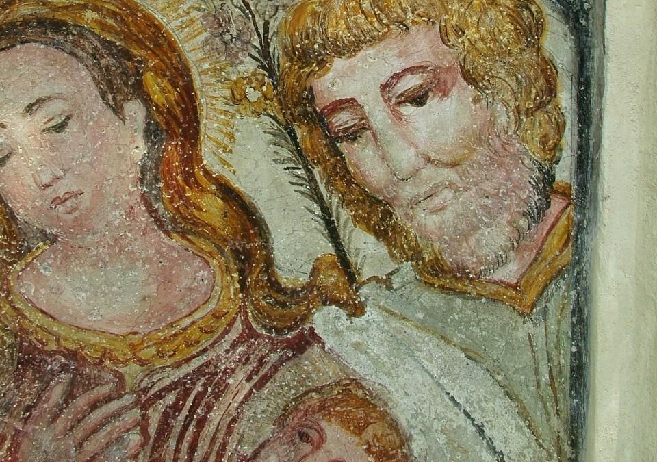 Affresco del XVI sec. raffigurante l'Annunciazione – Palanzo