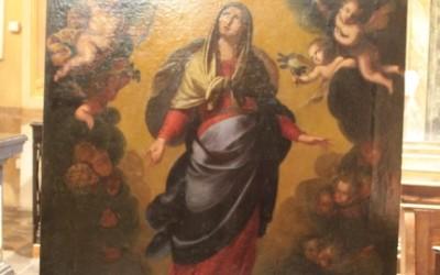 """Dipinto raffigurante """"Ascensione di Maria"""" – Lenno"""